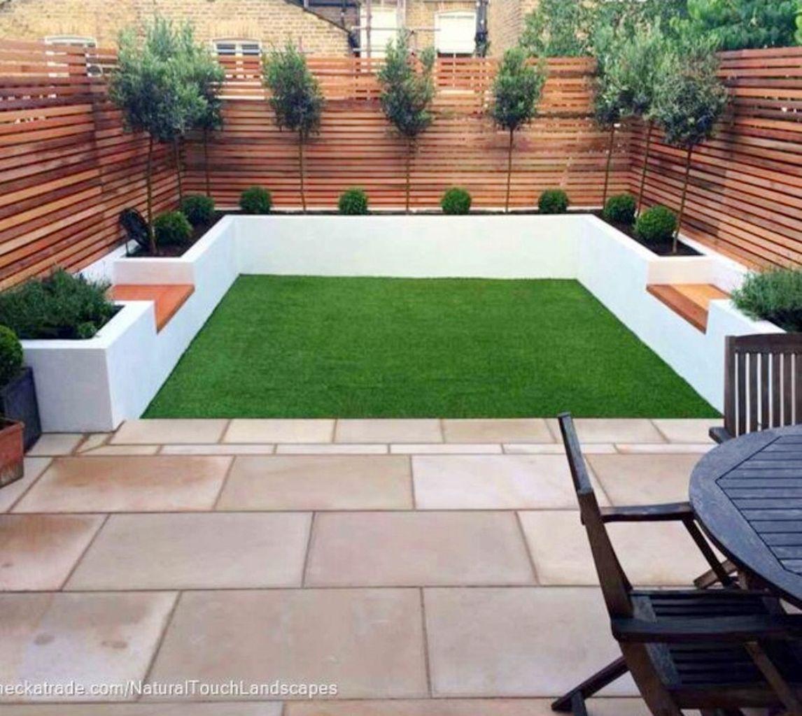 25 Best Modern Minimalist Terrace Ideas For Your Neat House Best 65 Simple Backyard Landscaping Back Garden Design Outdoor Gardens Design Garden Architecture