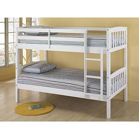 Essential Home Belmont Twin Bunk Bed White 200 165 Lb Weight