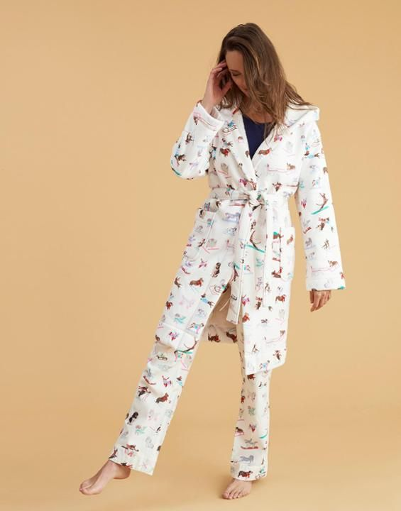 9d909b3596 IDLEWHILE Fleece-Lined Dressing Gown