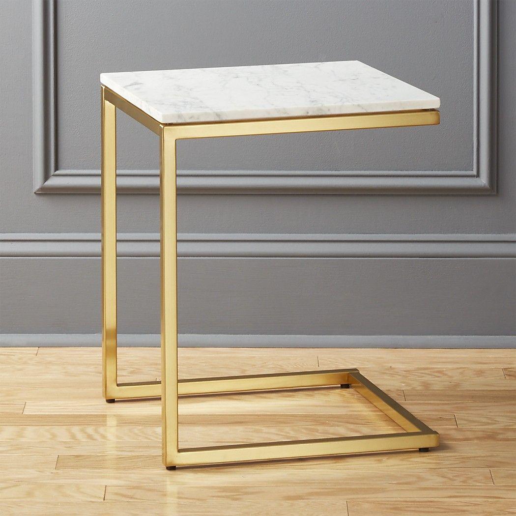 Smartmarblebrassctableshs18 1x1 Marble End Tables Marble Side Tables White Marble Side Table [ 1050 x 1050 Pixel ]