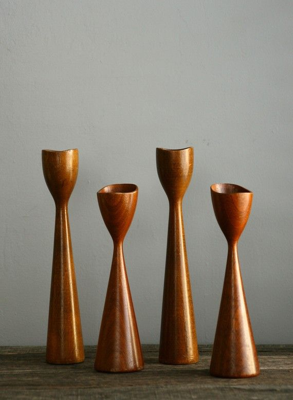Vintage Danish Modern Candle Holders Set Of Four In 2020 Modern Candle Holders Modern Candles Vintage Danish Modern