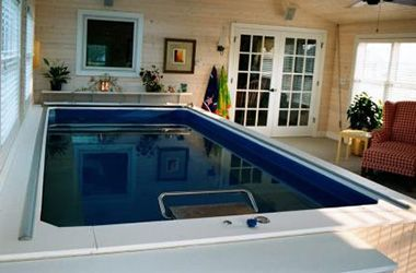 Install An Indoor Pool In Your Garage Indoor Pool Pool Houses Endless Pool