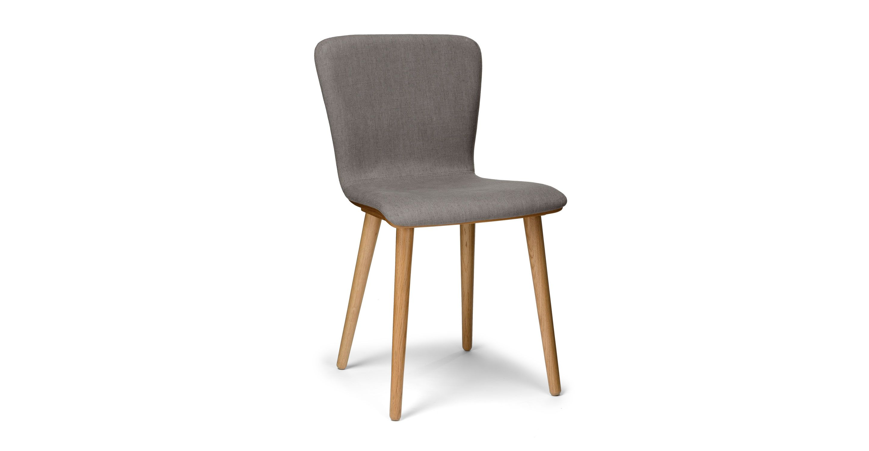 dining chairs contemporary. 2 X Gray Dining Chair In Oak Wood-Upholstered | Article Sede Modern Furniture Chairs Contemporary