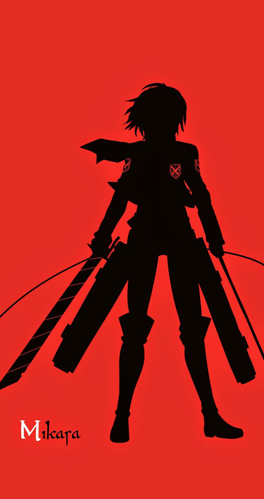 Tap And Get The Free App Anime Cartoons Minimalistic Red And Black Mikara Cool Fantasy Hd Iphone 6 Wall Anime Hd Girl Iphone Wallpaper Hd Wallpaper Iphone