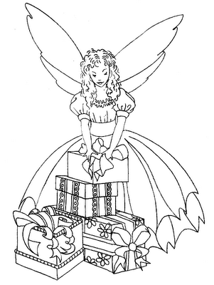 Image Detail For Christmas Coloring Pages Fairy Coloring Fairy Coloring Pages Coloring Pages