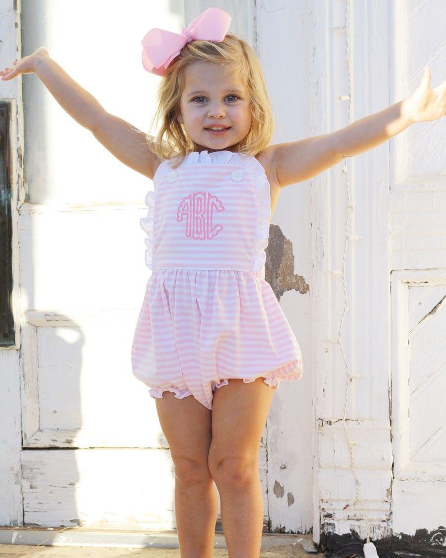 bd8b7ccc4449 Pink Striped Knit Sun Bubble