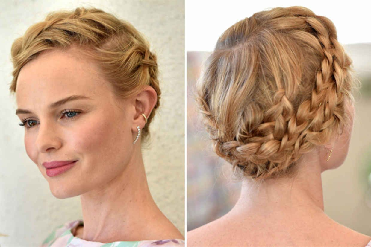 How to get kate bosworthus superromantic braided updo updo styles