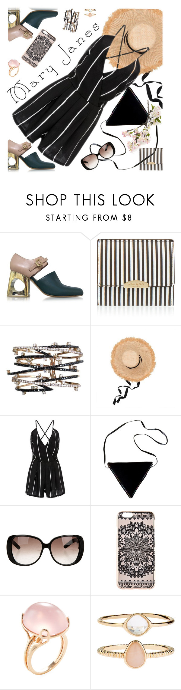 """Mary Janes"" by petalp ❤ liked on Polyvore featuring Marni, Henri Bendel, Lola, Casadei, Gucci, New Look, Goshwara, Accessorize, Crate and Barrel and ootd"