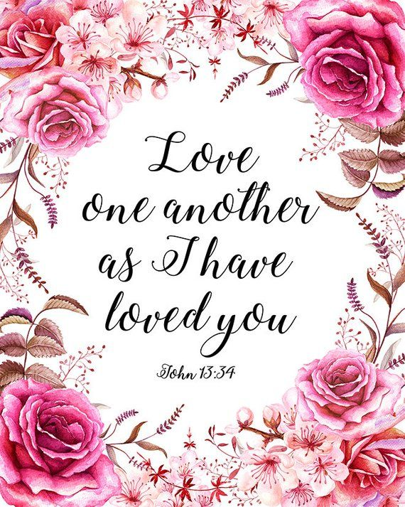 Geeky image intended for love one another printable