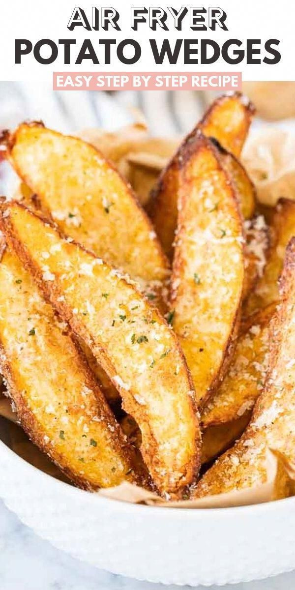 Air Fryer Potato Wedges {Extra crispy!} | Plated Cravings