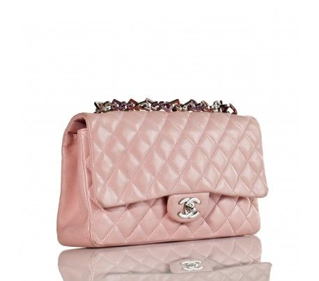 cf2242cf48b5 Chanel Pink Lambskin Heart Charm Classic Flap Bag - Limited Edition ...