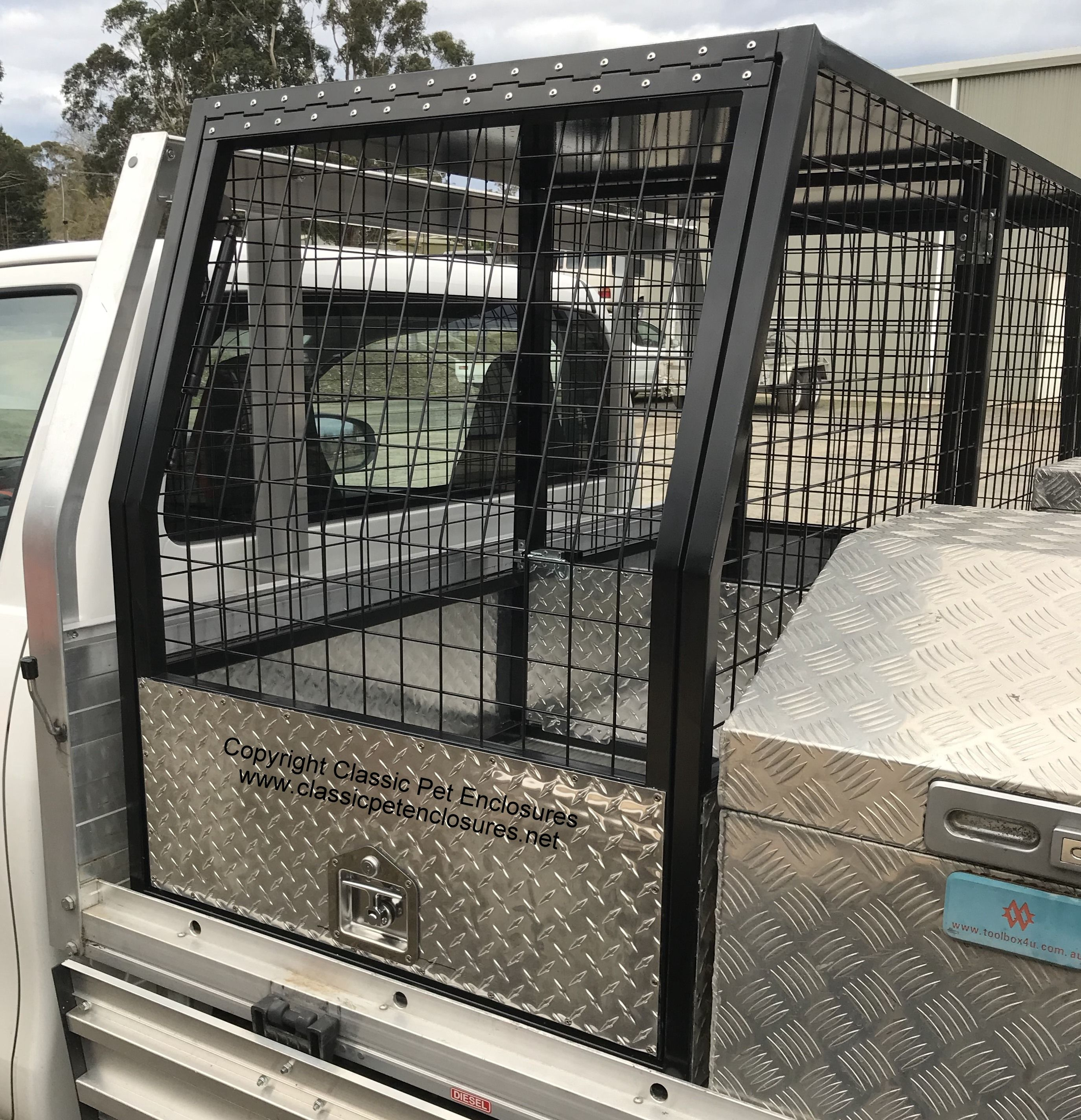 Cat Cage Decoration Ideas Ute Dog Crate With All The Features Insulated Roof Walls
