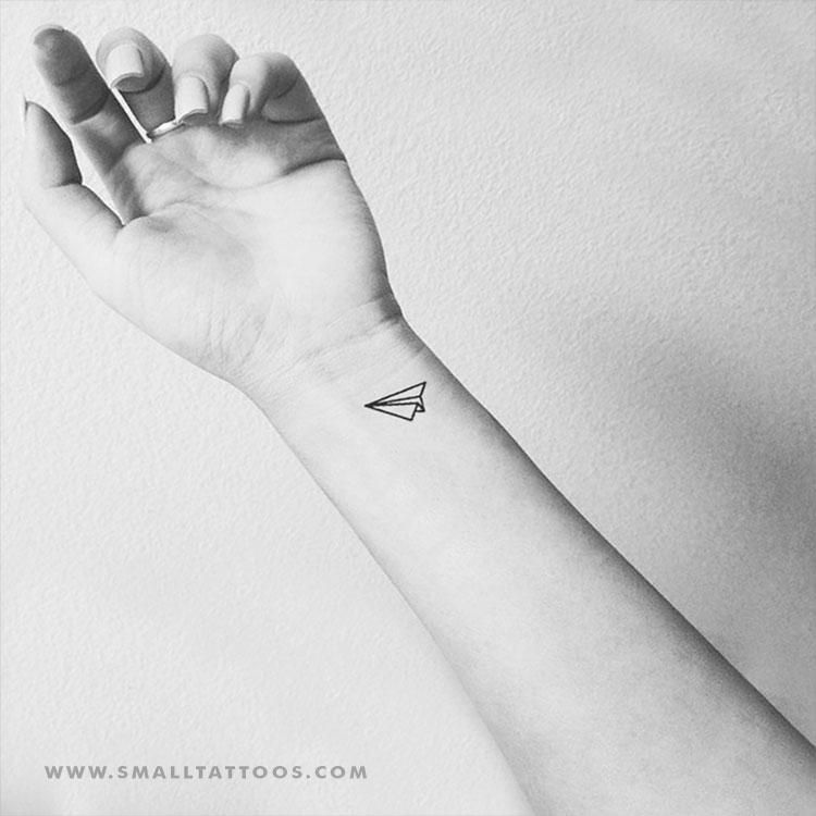 Paper Plane Temporary Tattoo Set Of 3 Small Tattoos Paper