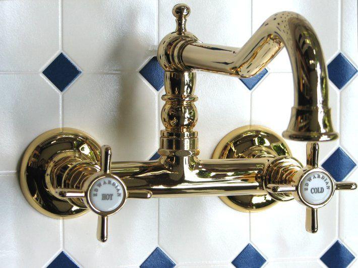 Aufputz Waschtisch- oder Küchenarmatur EDWARDIAN Nostalgie - nostalgie armaturen küche