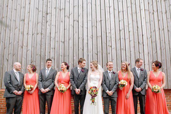 a crafty coral woodland wedding image by httpwwwvaphotoscom