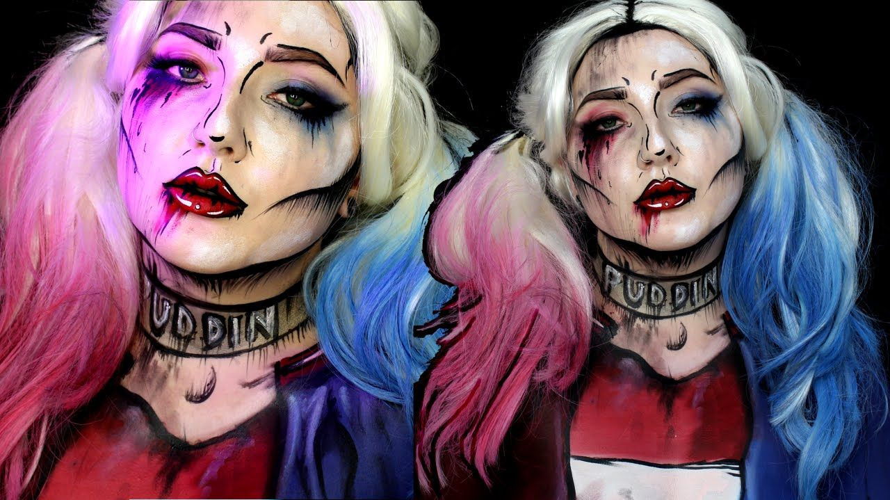5 harley quinn hair and makeup tutorials for halloween hey ya 5 best harley quinn hair and makeup tutorials stylecaster baditri Image collections