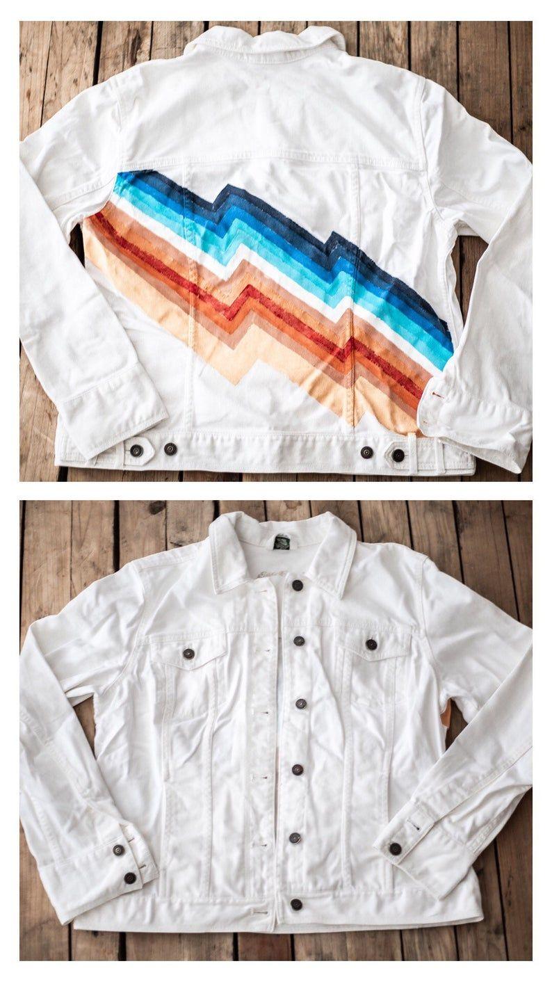 Painted Jean Jacket  Vintage Inspired