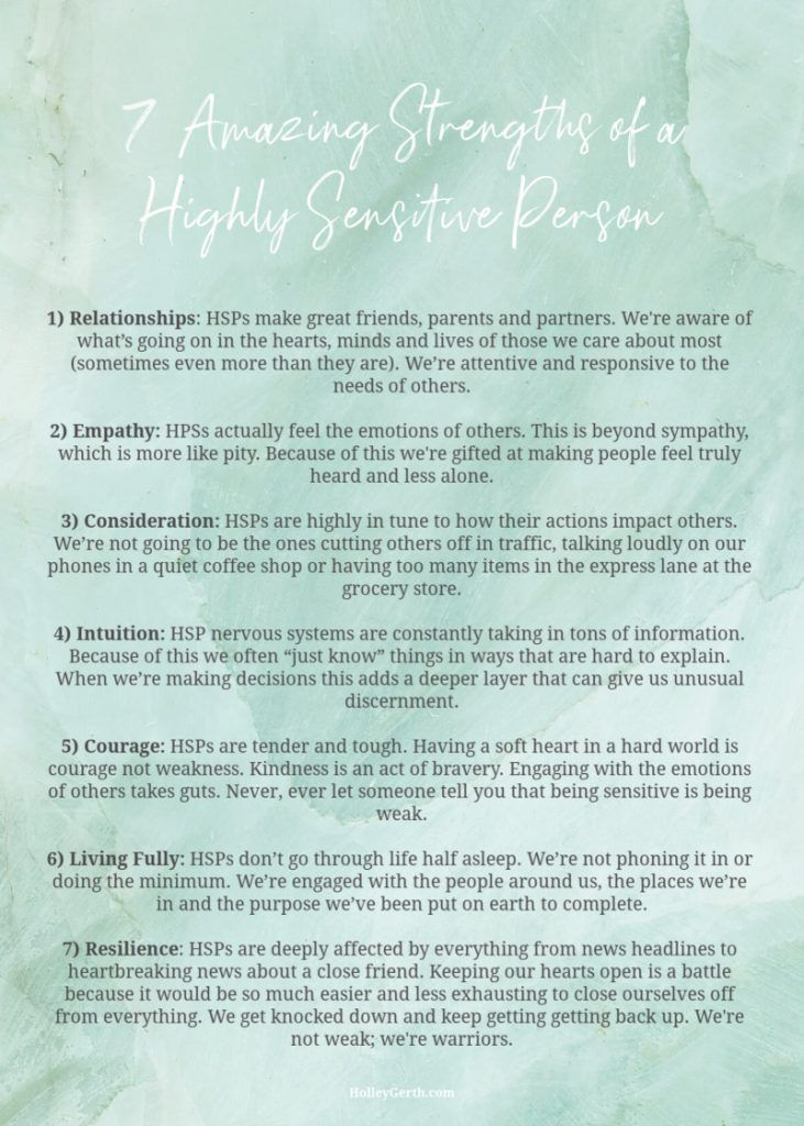 Strengths of a Highly Sensitive Person