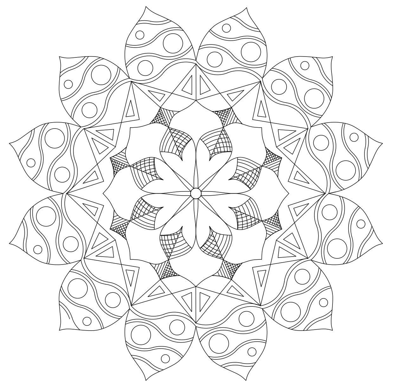 Mándalas para Colorear de Flores de Loto (1) | Ilustration ...