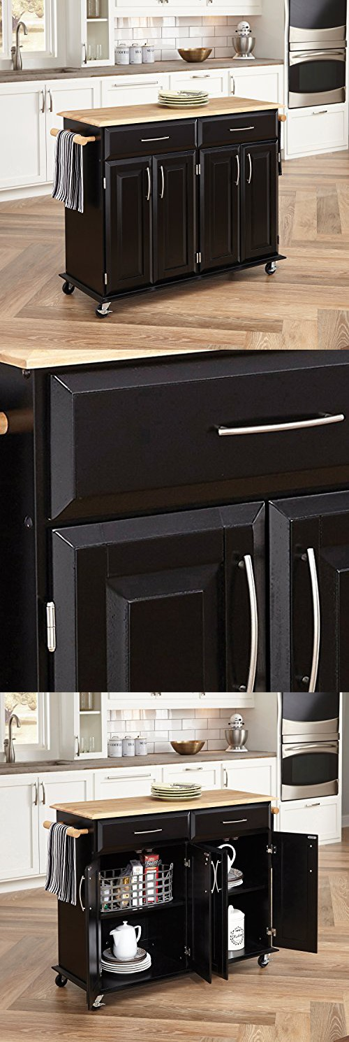 dolly madison kitchen island cart home styles 4528 95 dolly madison kitchen cart black finish home styles kitchen home 7759