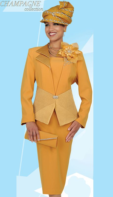 CS4310,Champagne Womens Church Suits Fall And Holiday 2014
