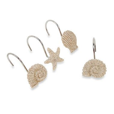 Buy Sandy Shell Shower Curtain Hooks Set Of 12 From Bed Bath Beyond