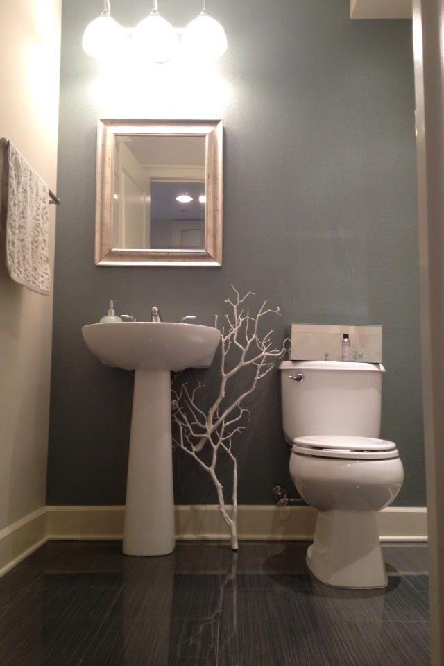 beautiful Half Bath Painting Ideas Part - 3: Half bath color and décor.. minus the weird tree, LOL