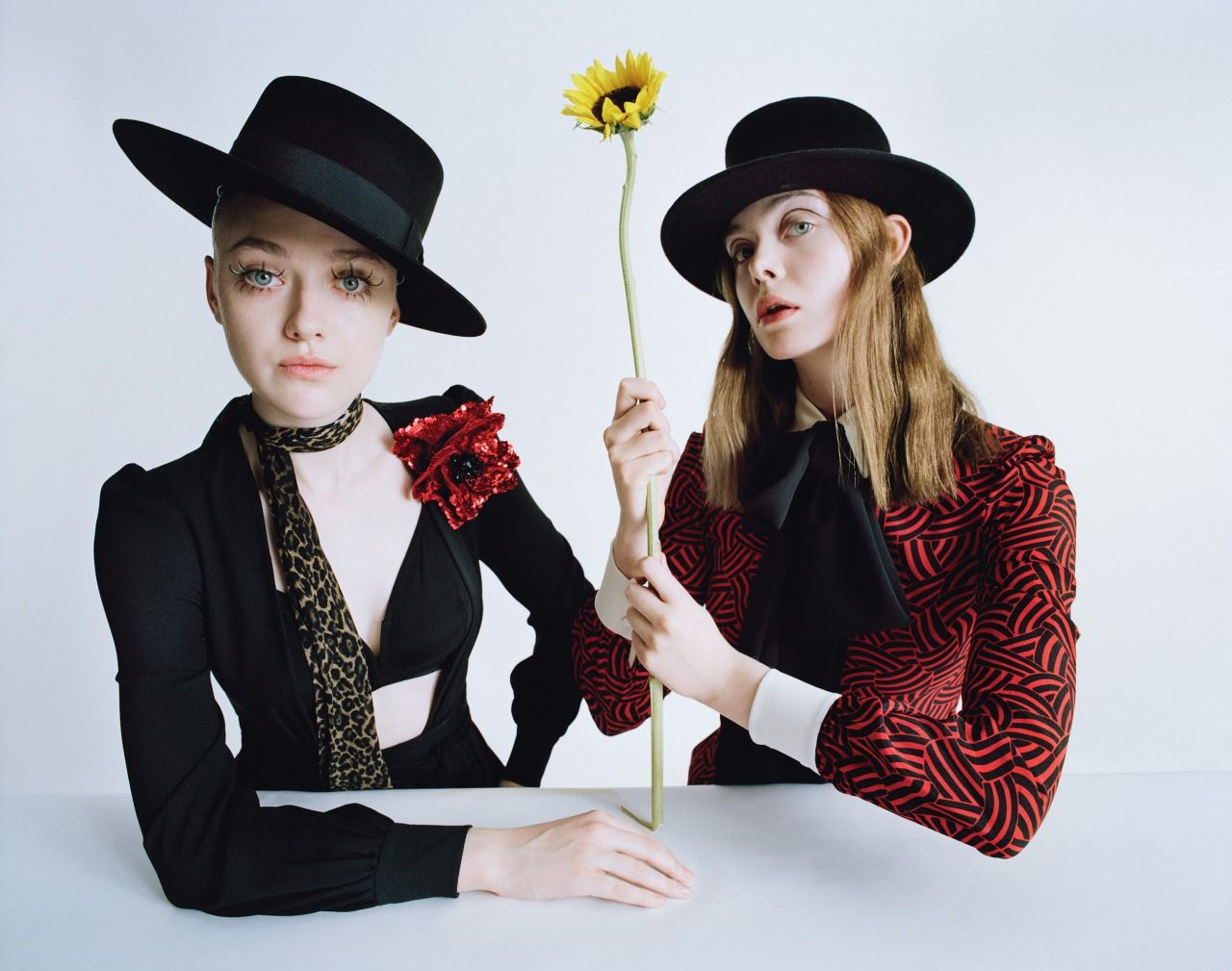 Surreal Sisters Photograph by Tim Walker; styled by Jacob K; W magazine February 2015.