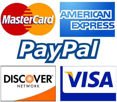 Just to let you know we accept all Major Credit and Debit