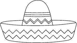 Resultado De Imagen De Gorro Mexicano Recortar Gorro Mexicano Sombrero Mexicano Revolucion Mexicana Para Colorear