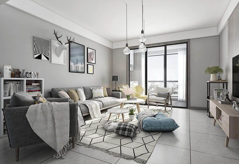Moden Livingroom 3D Model in 2019 | Interior, Living room