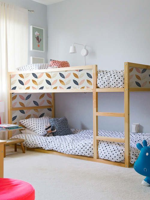 Mommo Design New Look For Kura With Stickers Ikea Bunk Bed