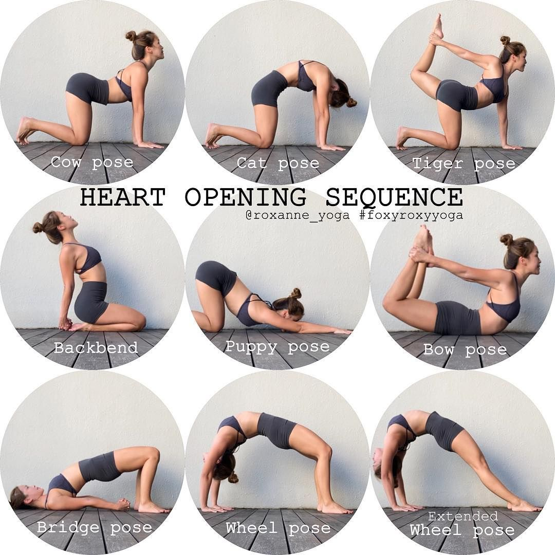 Heart Opening Sequence❤️ Great for stretching the chest, opening