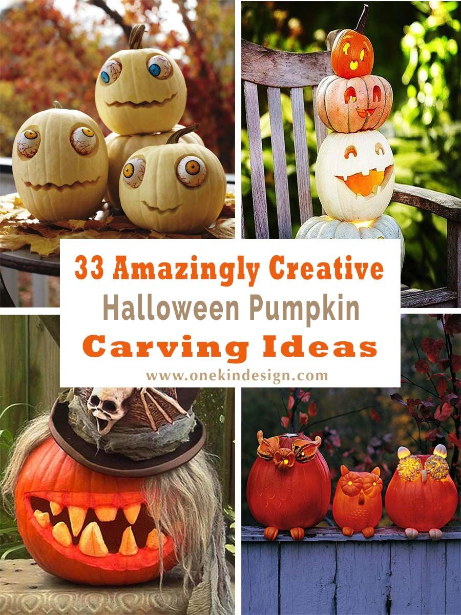 33 Amazingly creative Halloween pumpkin carving ideas Scary - cool halloween decoration ideas