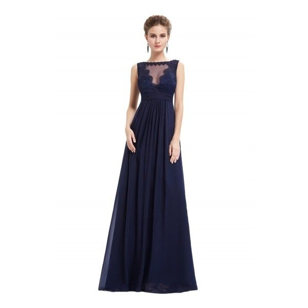 Women\'s Elegant Floral Lace Mesh Paneled Sleeveless Prom Dress ($66 ...