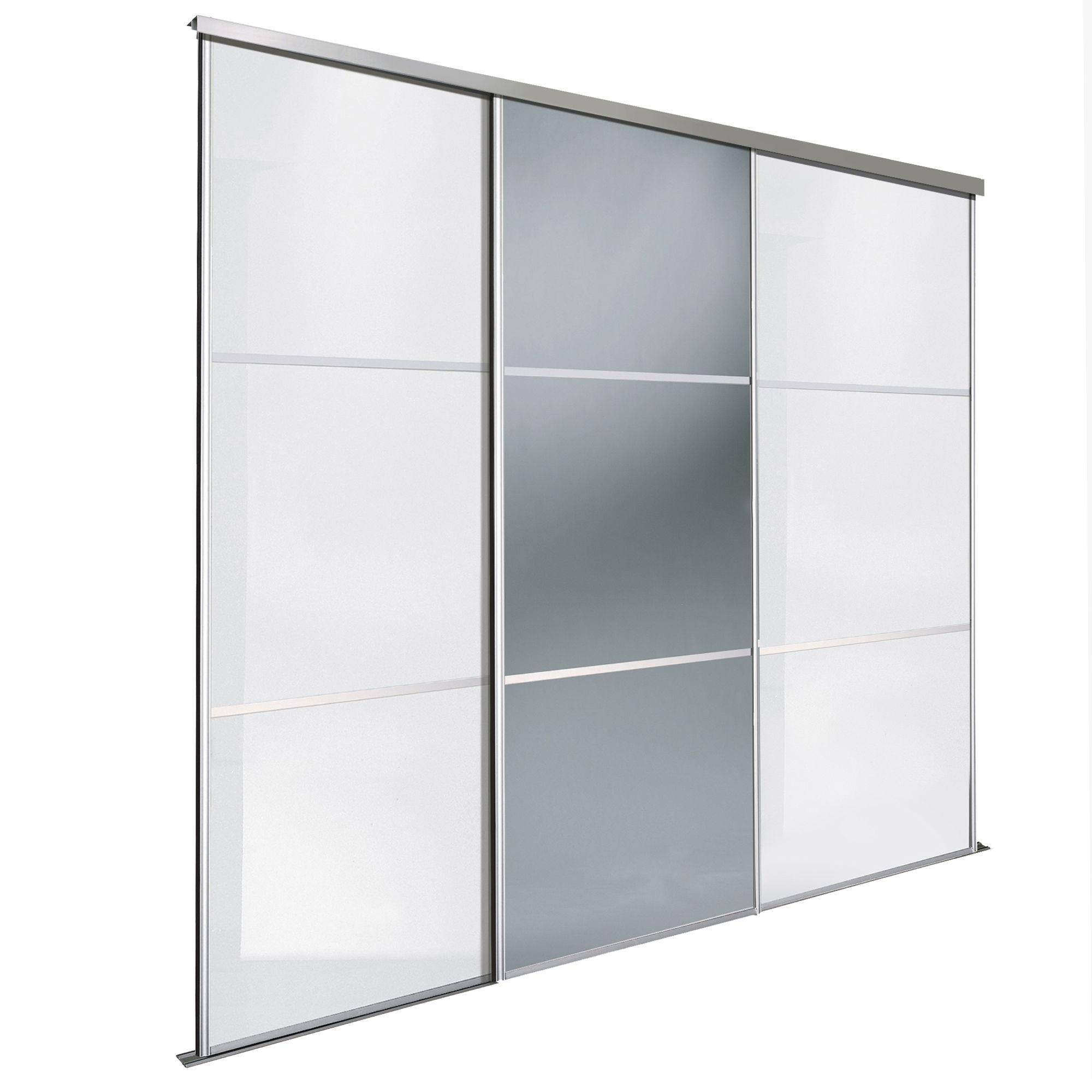 Premium Select White & Smoked Grey Mirror Sliding Wardrobe