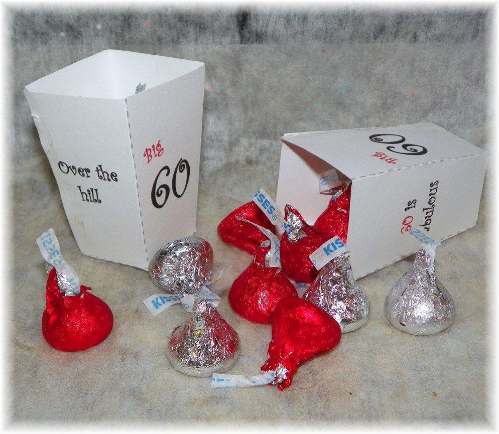 Fiesta de cumpleaos 60 imprimible caja a Favor DIY 60