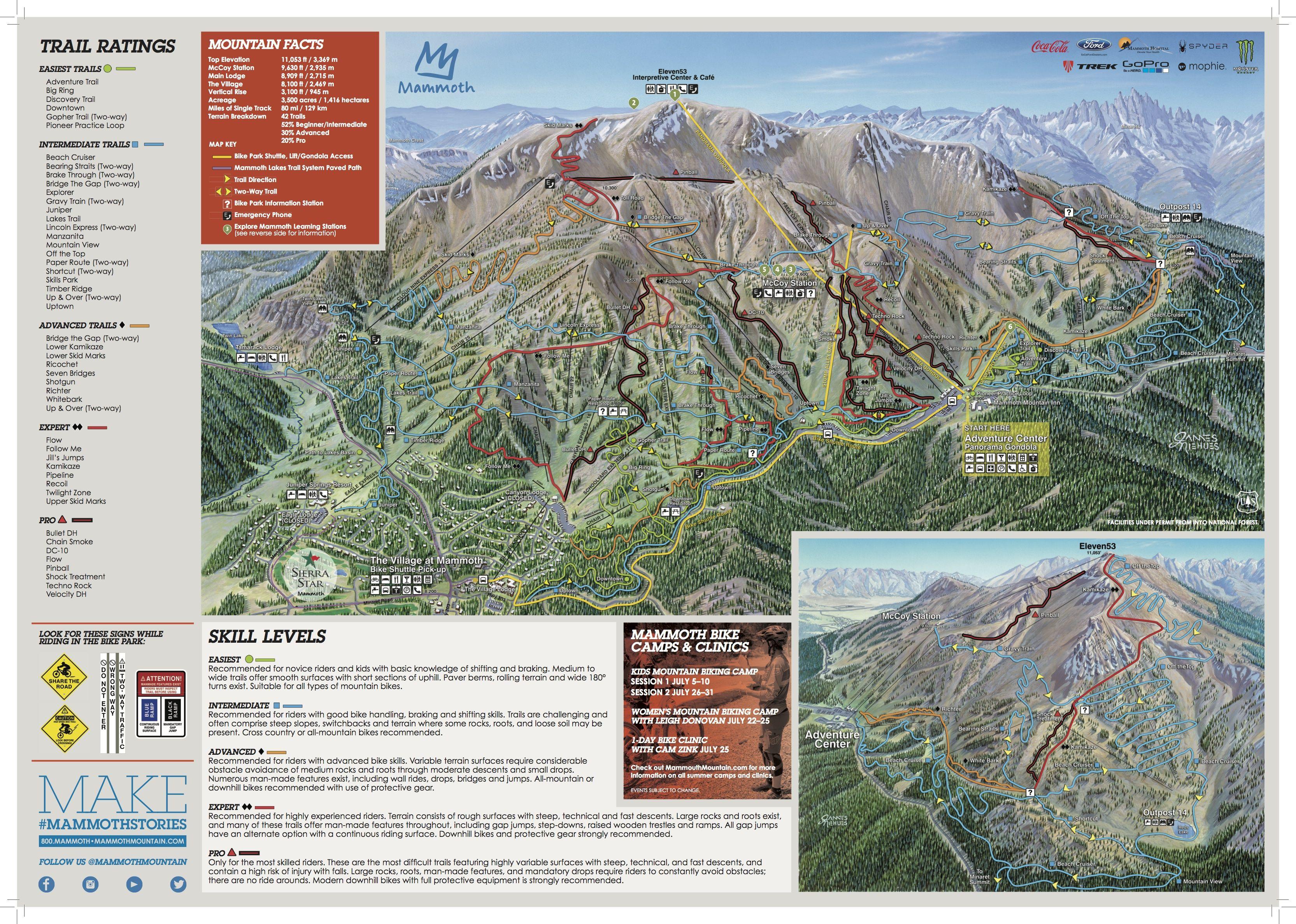 Mammoth Mountain Trail Map Bike Favorites Pinterest Mammoth - Mammoth mountain trail map
