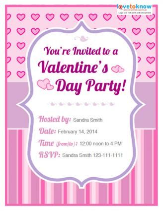 ValentineS Day Party Invitation Templates  Invitations