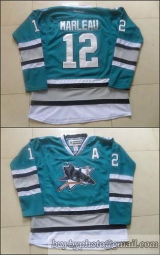 best loved cad9f dc343 NHL San Jose Sharks #12 Patrick Marleau 25th Anniversary ...