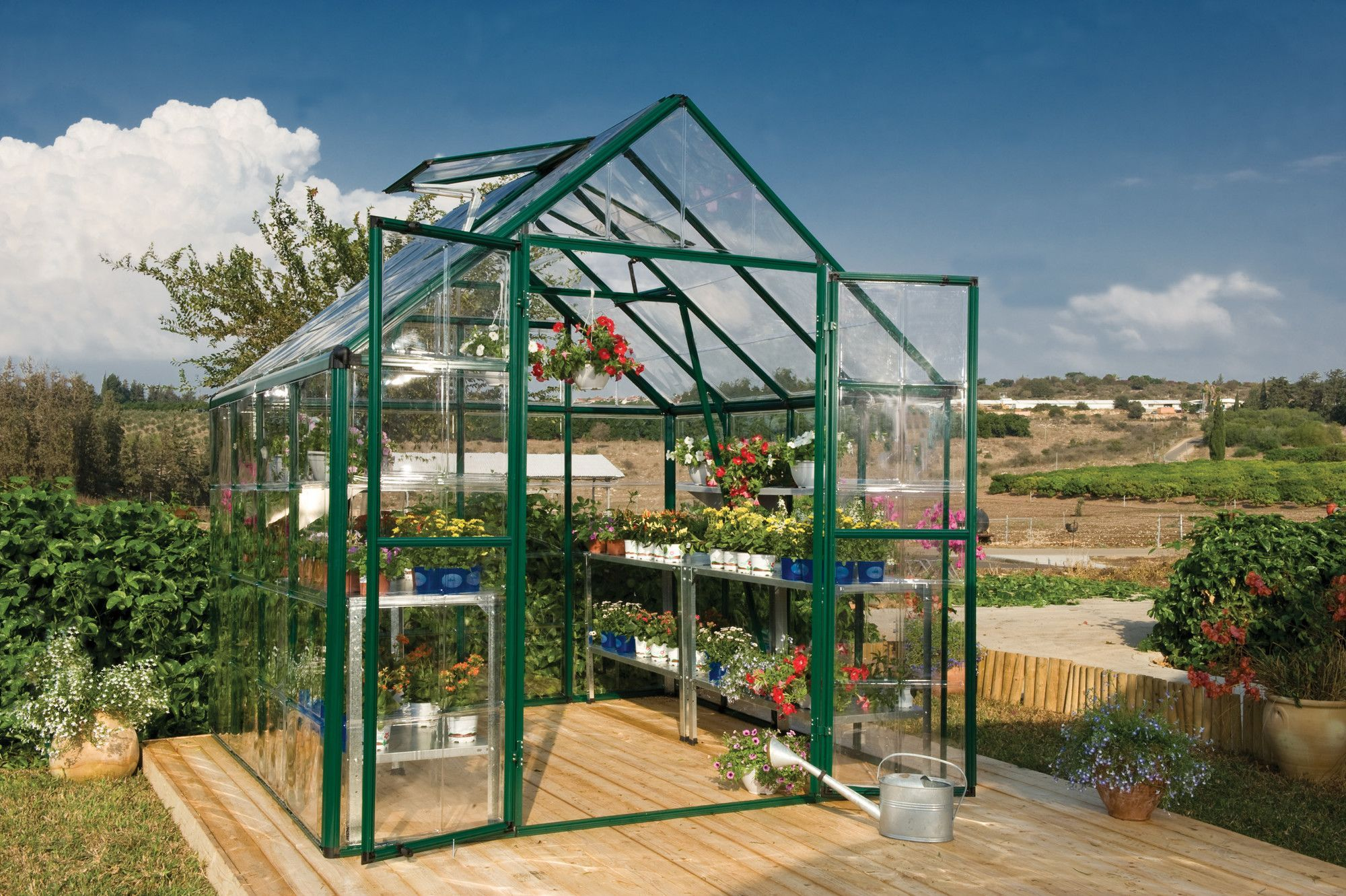 snap and grow 8 ft w x 8 ft d polycarbonate greenhouse
