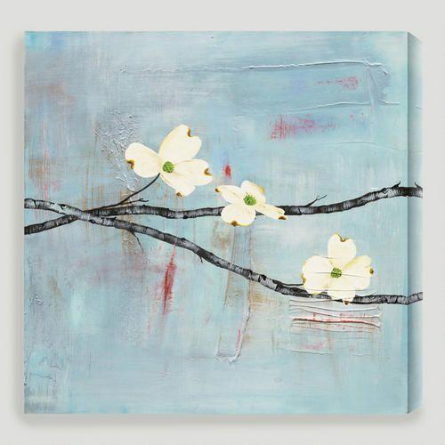 One Of My Favorite Discoveries At Worldmarket Com Dogwood On Blue Ii By Laura Gunn Canvas Art Prints Canvas Wall Art Canvas Art