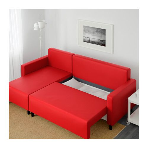 Lugnvik Sleeper Sectional 3 Seat Granån Red Ikea