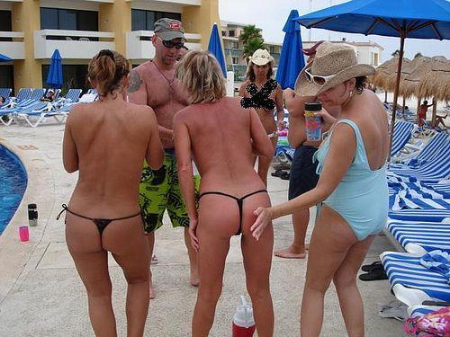 Women pissing in plastic panties