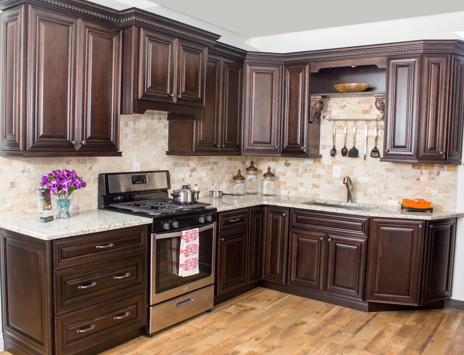 Elite Kitchen Designs Dark Chocolate Cabinets Cost Of Kitchen Cabinets Kitchen Cabinets And Granite Custom Kitchen Cupboards
