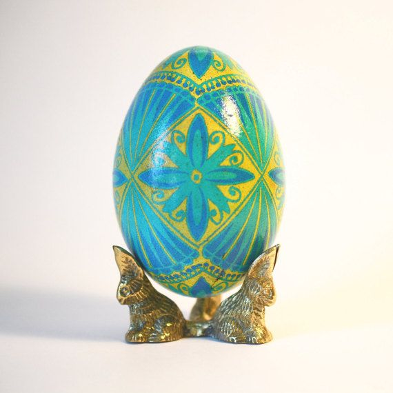 Blue and yellow pysanka ukrainian traditional gifts summer weddings blue and yellow goose egg pysanka ukrainian easter egg christmas gift for ukrainian grandfather dido negle Image collections