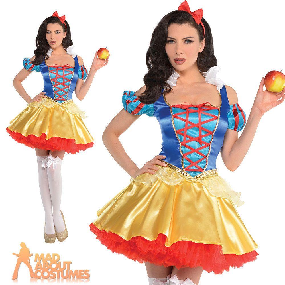 Snow White Adult Fancy Dress Disney Princess Fairy Tale Book Day Womens Costume
