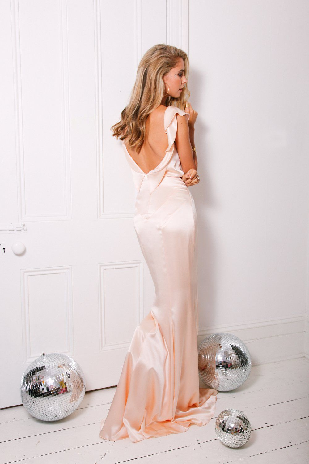 Satin backless wedding dress  ROSE PETAL DRESS  EDITORIAL   Belle u Bunty Bridal Collection