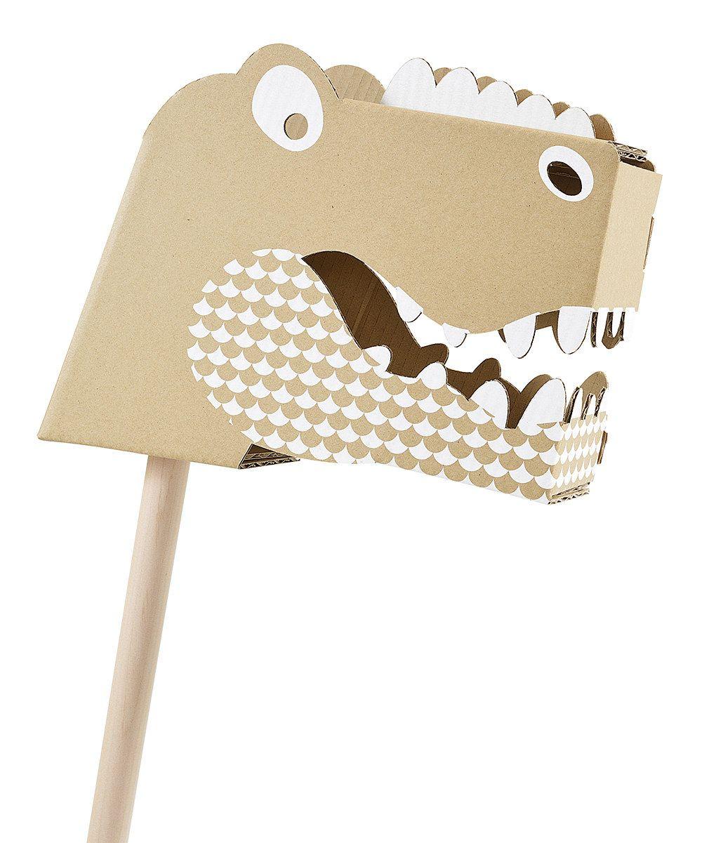 how to make a cardboard dinosaur head