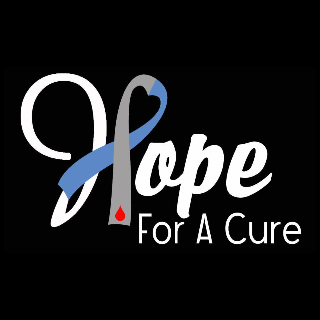 Hope heart diabetes ribbon diabetes awareness sticker